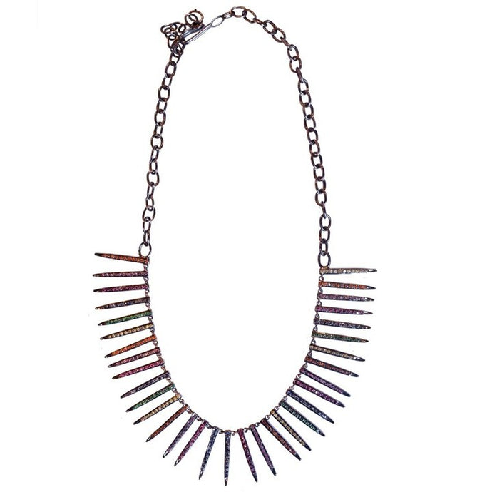 S. Carter Designs Sapphire Needle Necklace