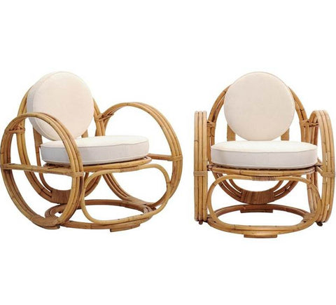 Pair of 1950s Rattan Chairs