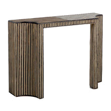 Load image into Gallery viewer, Two Tone Rattan Console