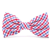 Load image into Gallery viewer, The Foggy Dog Red White and Blue Bowtie