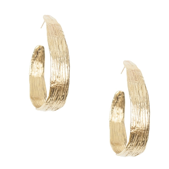 Reed Hoop Earrings