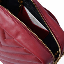 Load image into Gallery viewer, Rio Leather Shoulder Bag in Cherry