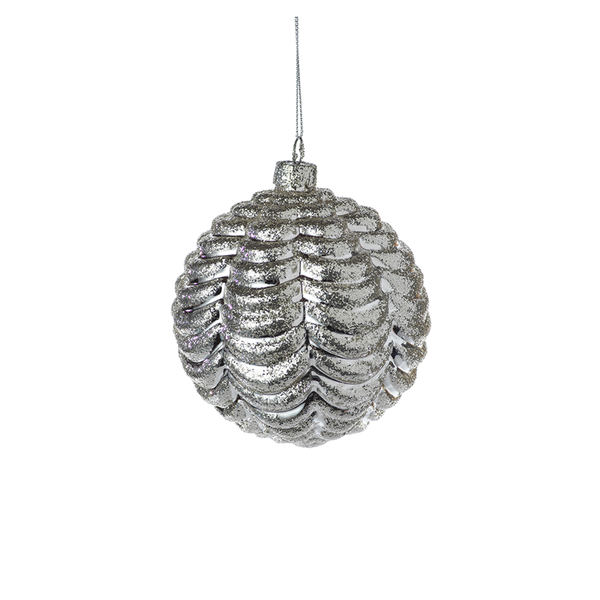 Silver Ripple Ornament
