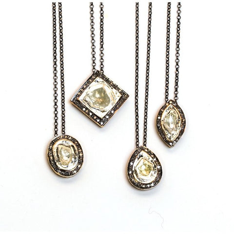 Cindy Ensor Rose Cut Diamond Necklaces