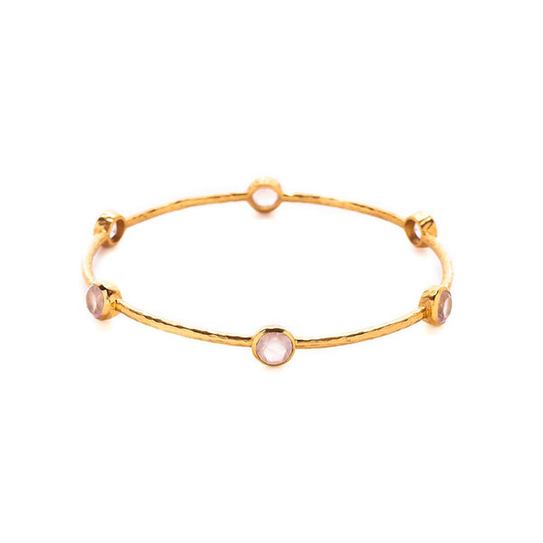 Julie Vos Milano Bangle in Rose Quartz