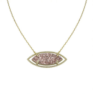 Natalie Wood Designs She's a Gem Necklace - Rose