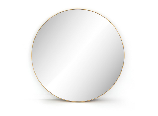 Polished Brass Round Mirror