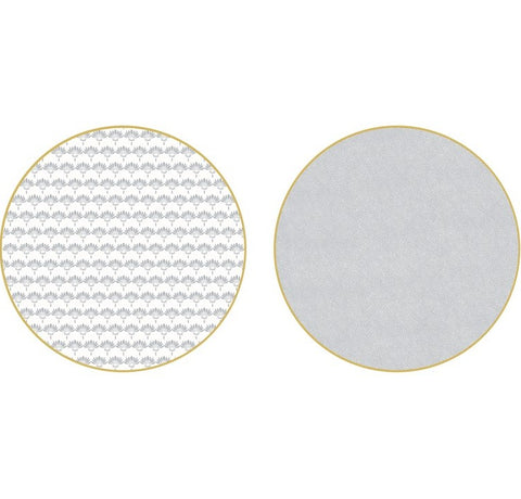 Holly Stuart Two-Sided Palm and Dot Fan Round Placemat