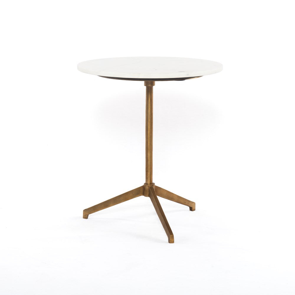 Marble and Brass Tripod Table