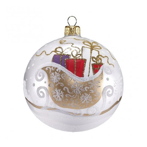 Sleigh Ride with Gifts Ornament