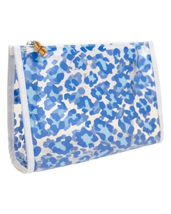 Clear Road Tripper Bag in Blue Leopard