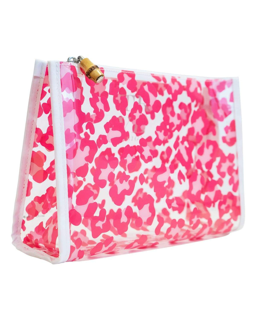 Clear Road Tripper Bag in Pink Leopard