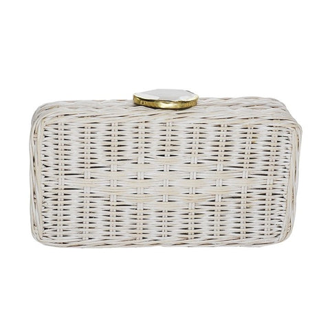 Sanibel Wicker Clutch
