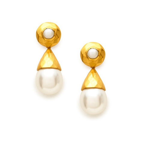Julie Vos Savannah Pearl Drop Earrings