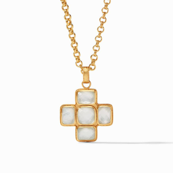 Savoy Pendant Necklace in Clear Crystal