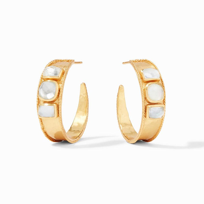 Julie Vos Savoy Statement Hoop Earrings