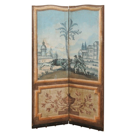 18th Century Folding Fabric Screen