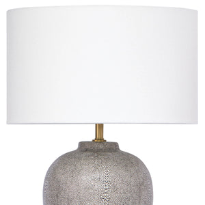 Grey Shagreen Ceramic Table Lamp