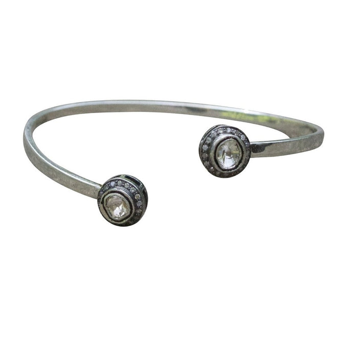 S. Carter Designs Silver and Diamond Cuff