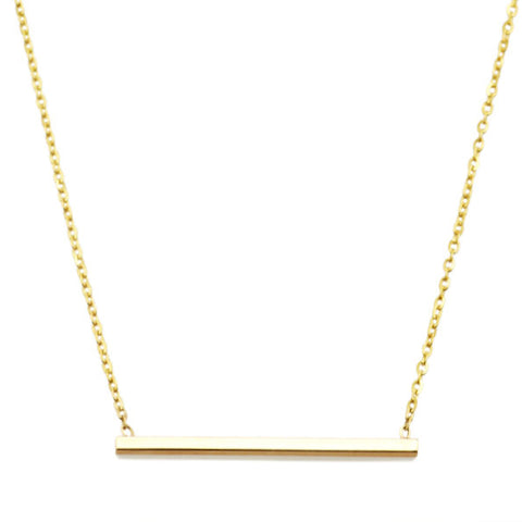 Vale Jewelry Simple Bar Necklace