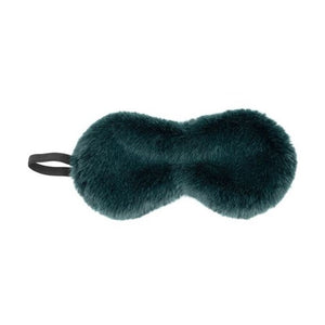 Emerald Mink Faux Fur Eye Mask