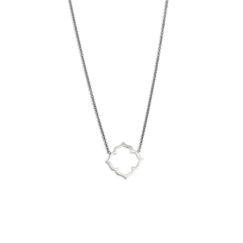 Marion Cage Clover Necklace