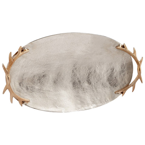 Oval Horn Handled Tray