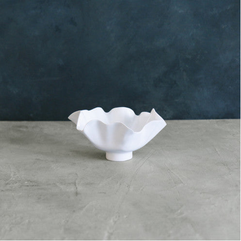 VIDA Bloom White Deep Bowl