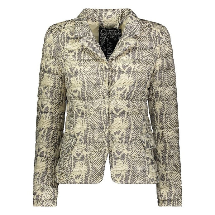 Down Blazer Jacket in Snake
