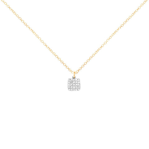 La Soula Little Soft Square Necklace
