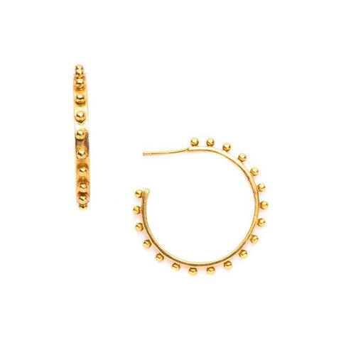 Julie Vos Soho Hoops in Gold