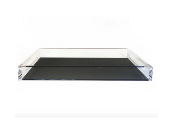 Acrylic Serving Tray in Black