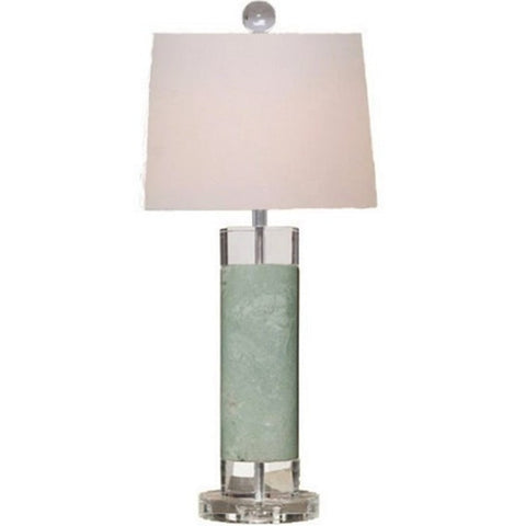 Solid Green Oval Lamp