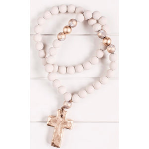 The Sercy Studio Sophia Cross/Heart Blessing Beads