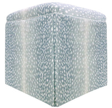 Load image into Gallery viewer, Spa Blue Antelope Ottoman