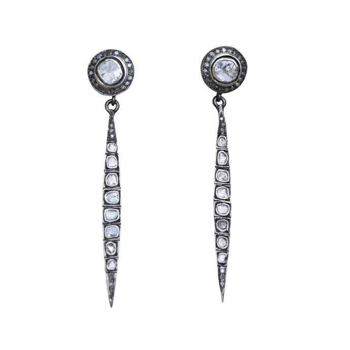 S. Carter Designs Sliced Diamond Spike Stud Earrings