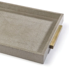 Load image into Gallery viewer, Square Shagreen Tray