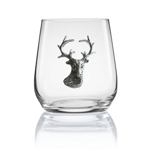 Stemless Stag Head Wine and Cognac Glass