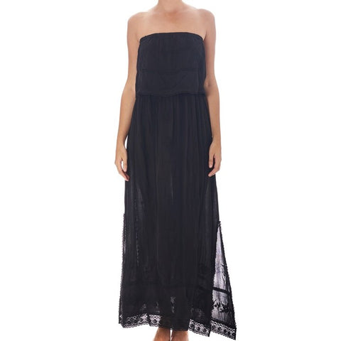 Stella Lace and Emb Maxi Dress