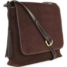 Load image into Gallery viewer, Loxwood Suede Anouk Messenger Bag in Chocolate