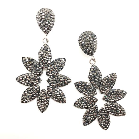 Shiver and Duke Sunburst Pave Earrings