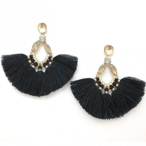 Shiver and Duke Sydney Fringe Earrings