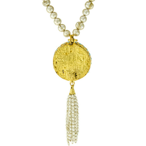Gypsy Medallion Tassel Pendant Necklace