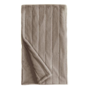 Greige Mink Posh Throw