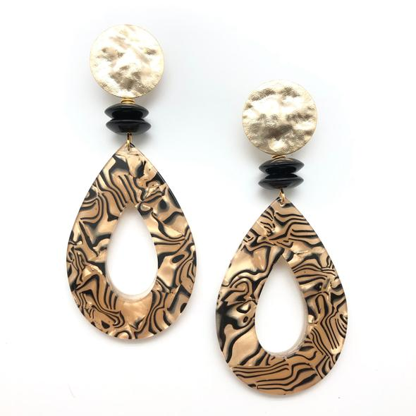 Shiver and Duke Tiger earrings.
