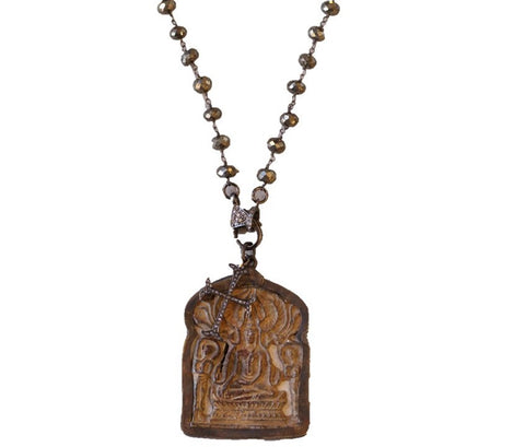 KZ Noel Prayer Panel Necklace
