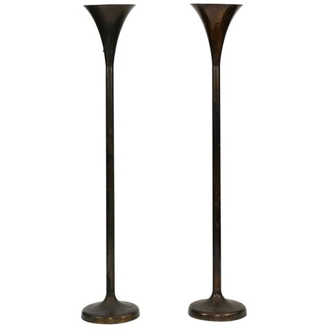 Pair of 1950s Torchère Lamps