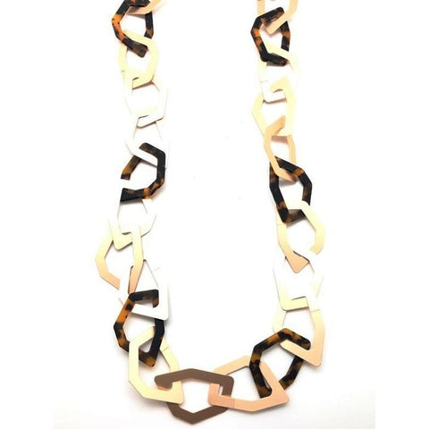 Shiver and Duke Tortoise Chain Link Necklace
