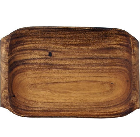 Acacia Wood Serving Tray with Handles