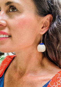 Shiver and Duke Tulum Earrings in Navy